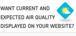 Want current and expected air quality displayed on your website