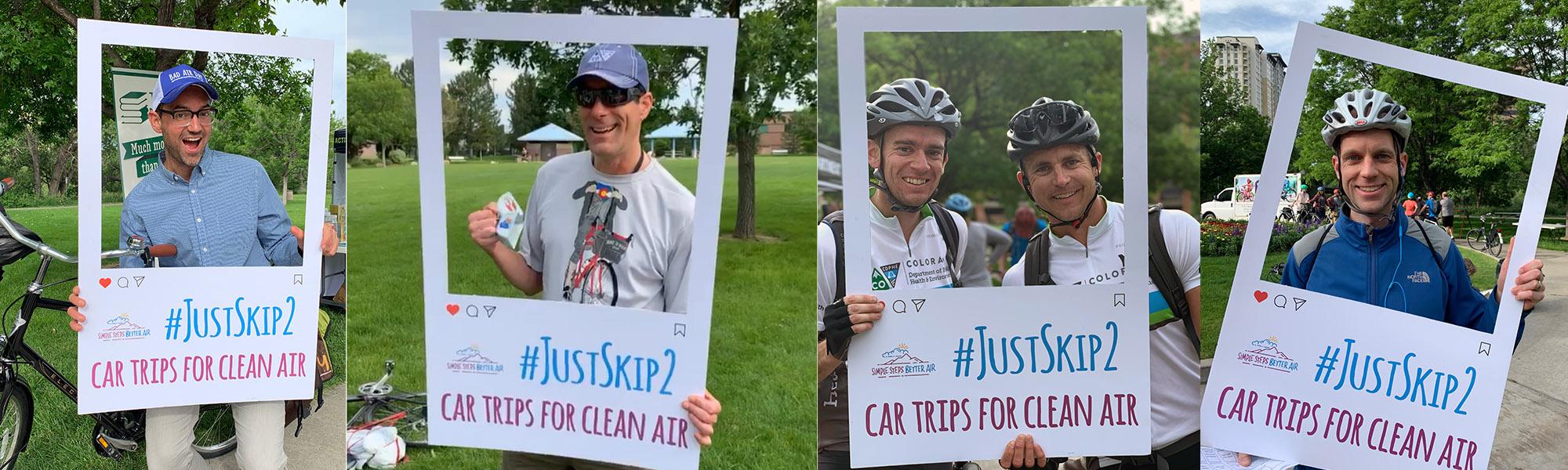 JustSkip2 car trips for clean air